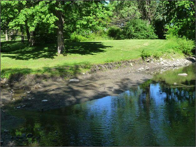 Example eroding shoreline