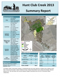 Hunt Club Creek 2013 - Summary Report