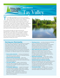 Tay Valley Municipal Information Sheet