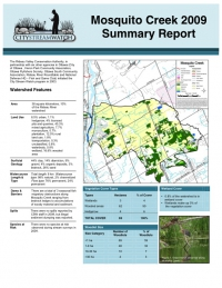 Mosquito Creek 2009 - Summary Report