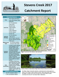 Stevens Creek - 2017  Catchment Report