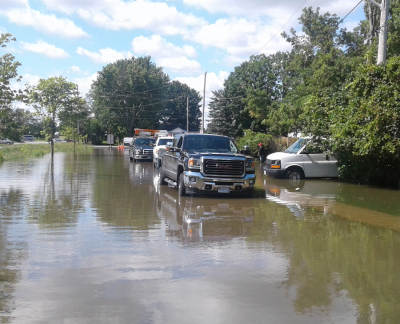 Wet Weather in Most of the Rideau Watershed but Record Rain and Flooding in North Gower