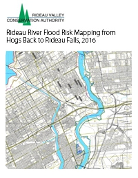 Rideau River Flood Risk Mapping from Hogs Back to Rideau Falls, 2016