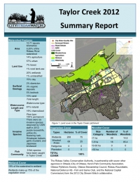 Taylor Creek 2012 - Summary Report