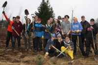 Nepean High School students planted 500 trees at MacSkimming Outdoor Education Centre on Friday, May 3 as part of the #FridaysForFuture climate protest.