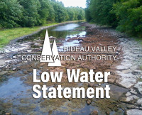 """Moderate"" Low Water Condition in Rideau River Watershed"