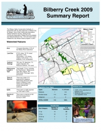 Bilberry Creek 2009 - Summary Report