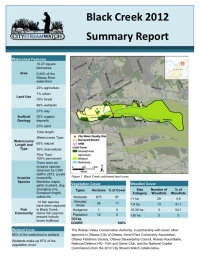 Black Creek 2012 - Summary Report