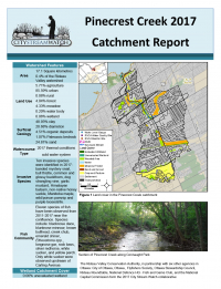 Pinecrest Creek - 2017  Catchment Report