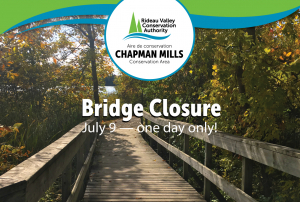Chapman Mills Bridge Closure July 9 (one day only)
