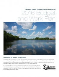 2016 Budget and Work Plan
