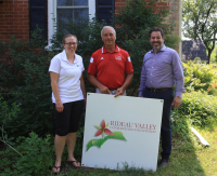 L to R: RVCA's Megan Dunster, landowner Wally Kaczkowsk and RVCF's Michael Poliwoda