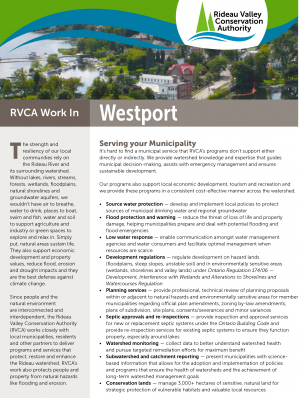 Westport Municipal Information Sheet