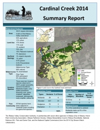Cardinal Creek 2014 - Summary Report